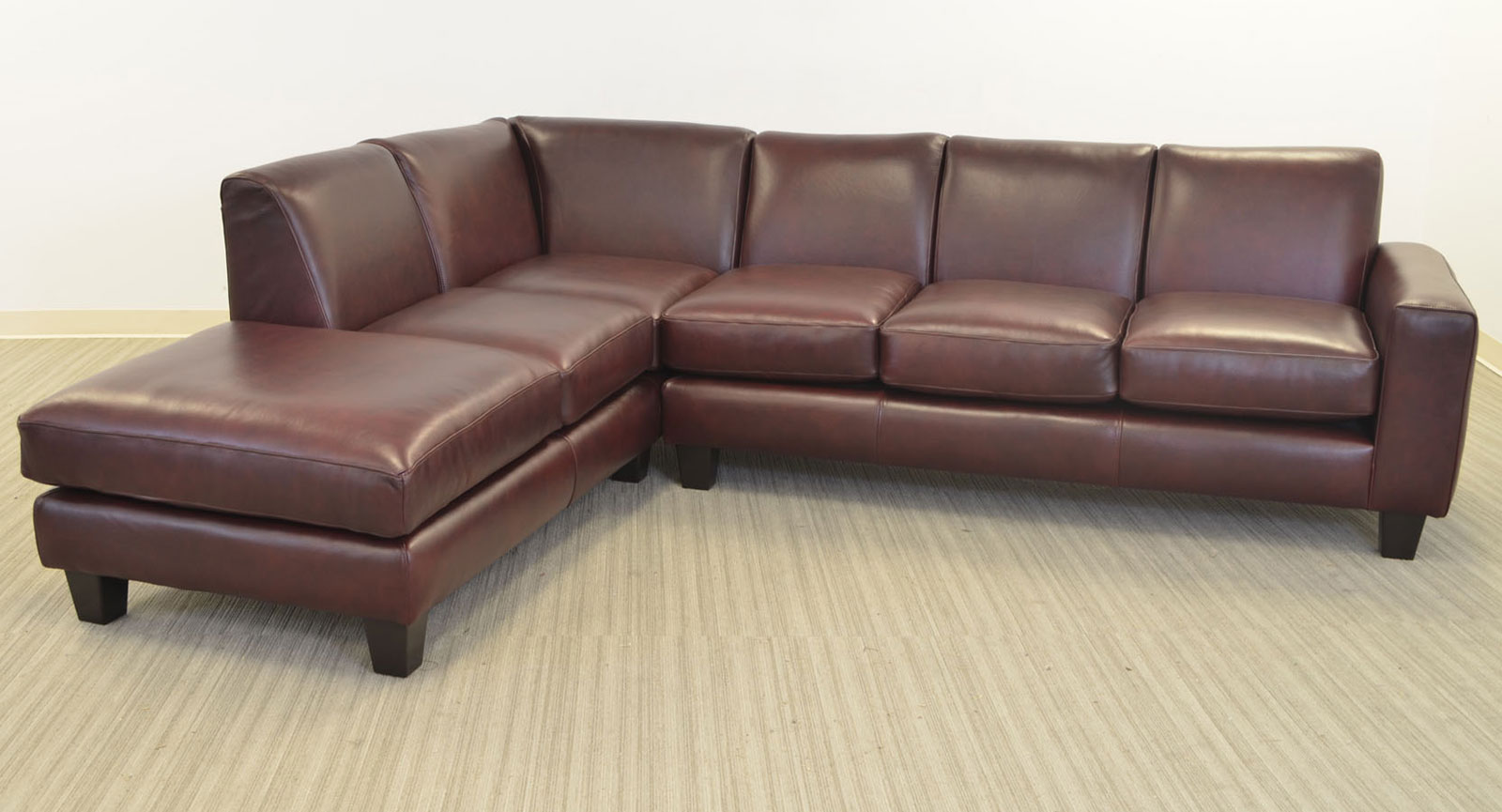 Elegante sofa the leather sofa company for 4 seat sectional sofa chaise