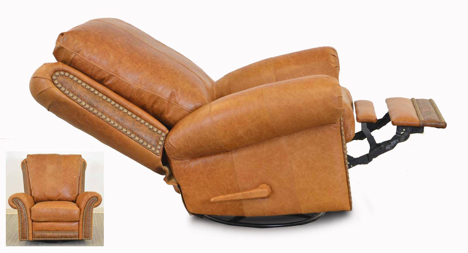 Swivel Glider Recliner Embossed