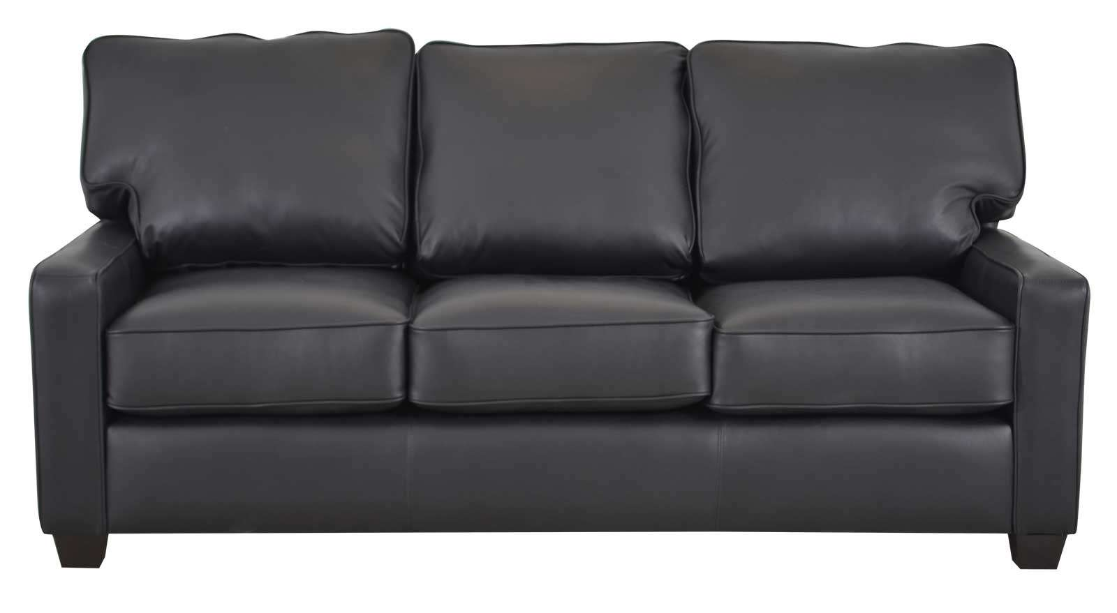 Leather sofa black using black leather sofas for your home for Sofa company