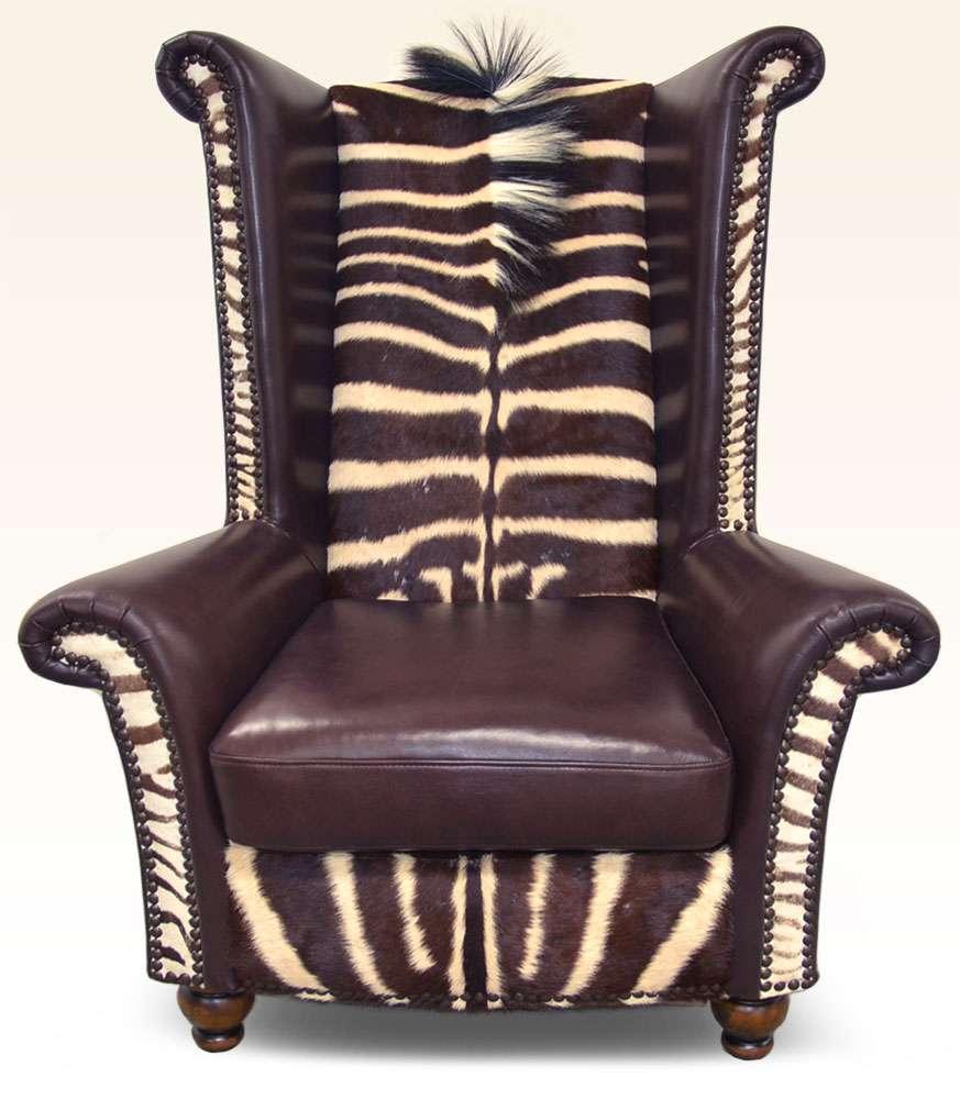 Safari Furniture Collection King Chair Zebra The Leather Sofa Company