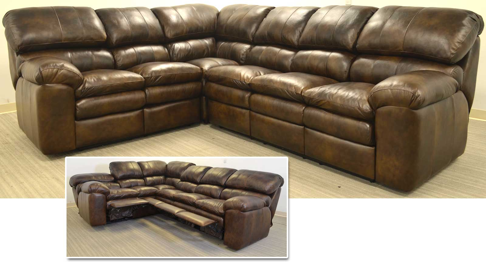 Right Arm Loveseat Corner Left Arm Sofa With Incliners