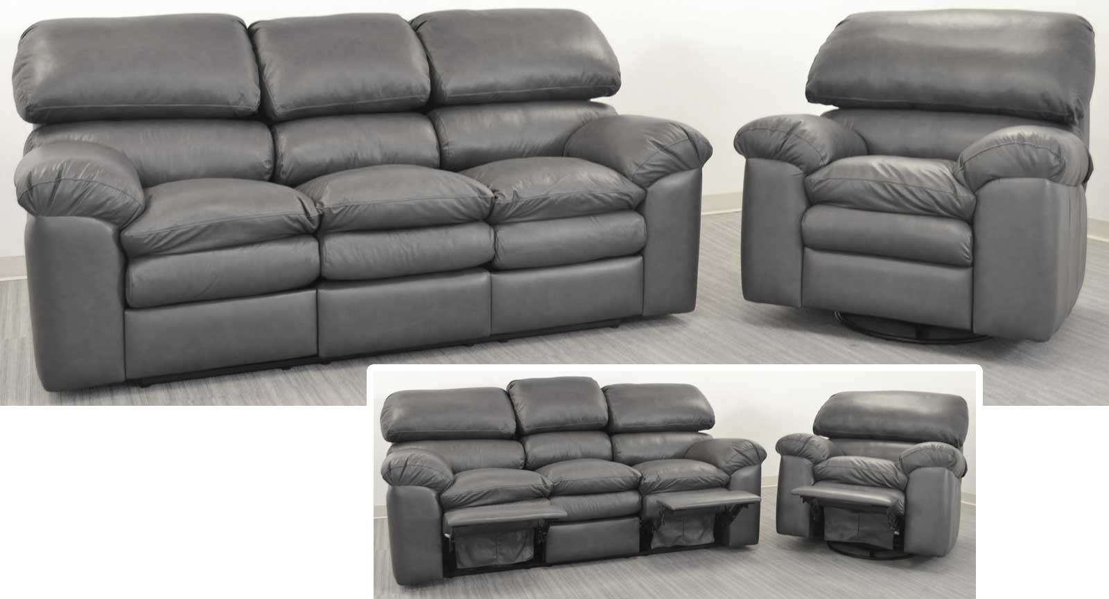 Sofa With 2 Incliners Swivel Glider Recliner A