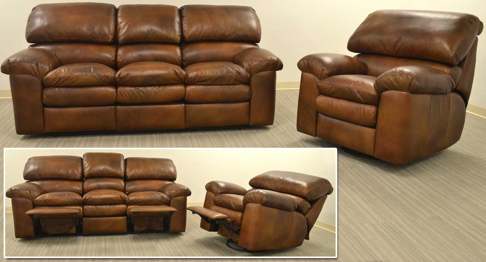 Sofa With 2 Incliners Swivel Glider Recliner