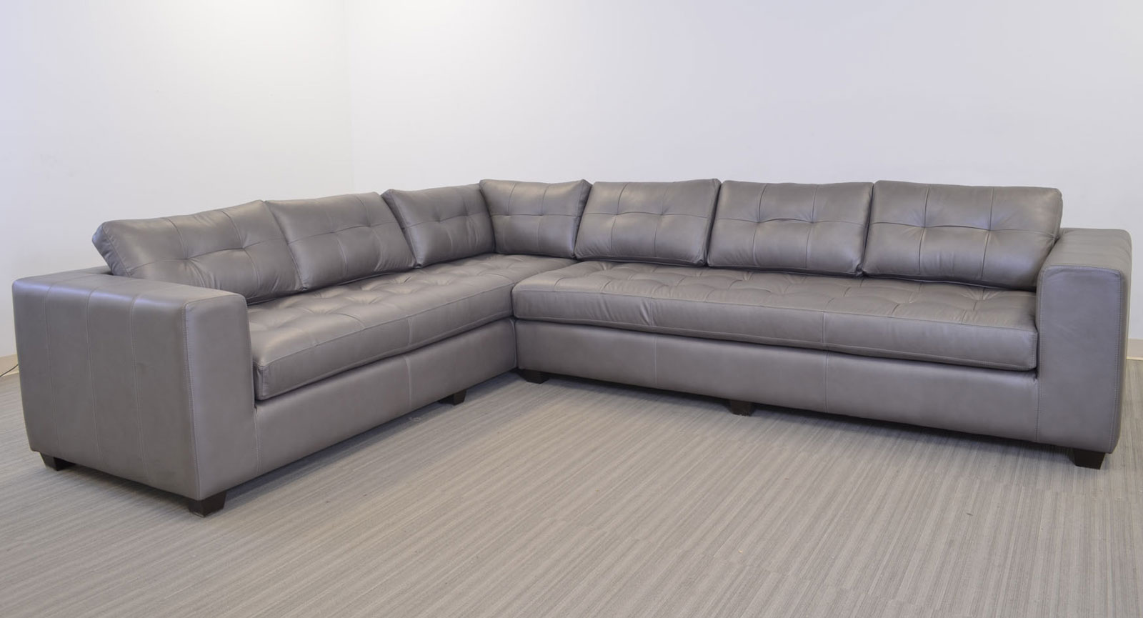 Gev Right Arm Corner Sofa Left Arm Sofa Gray