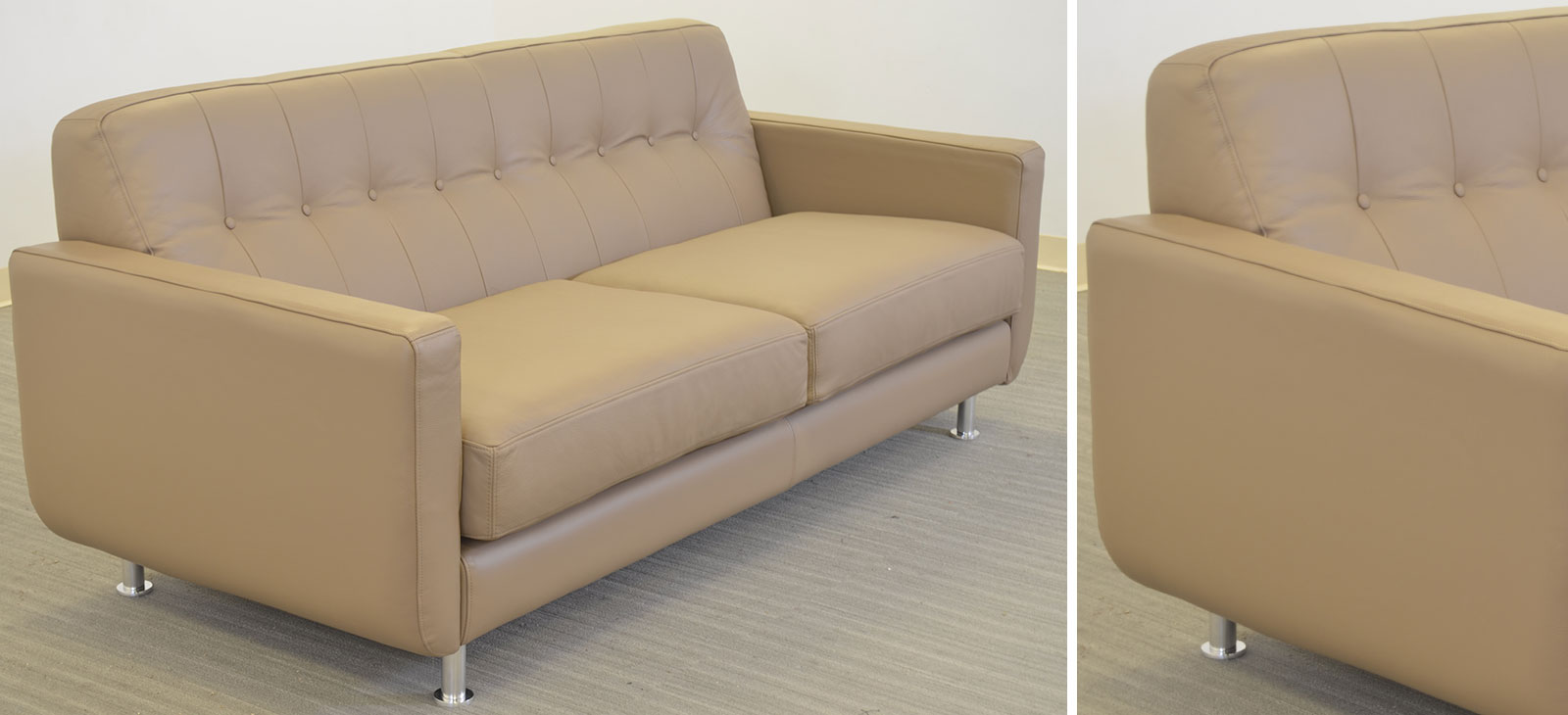 Greta 2 Cushion Sofa Angle B