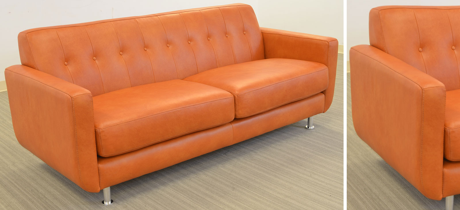 Greta 2 Cushion Sofa Angle O