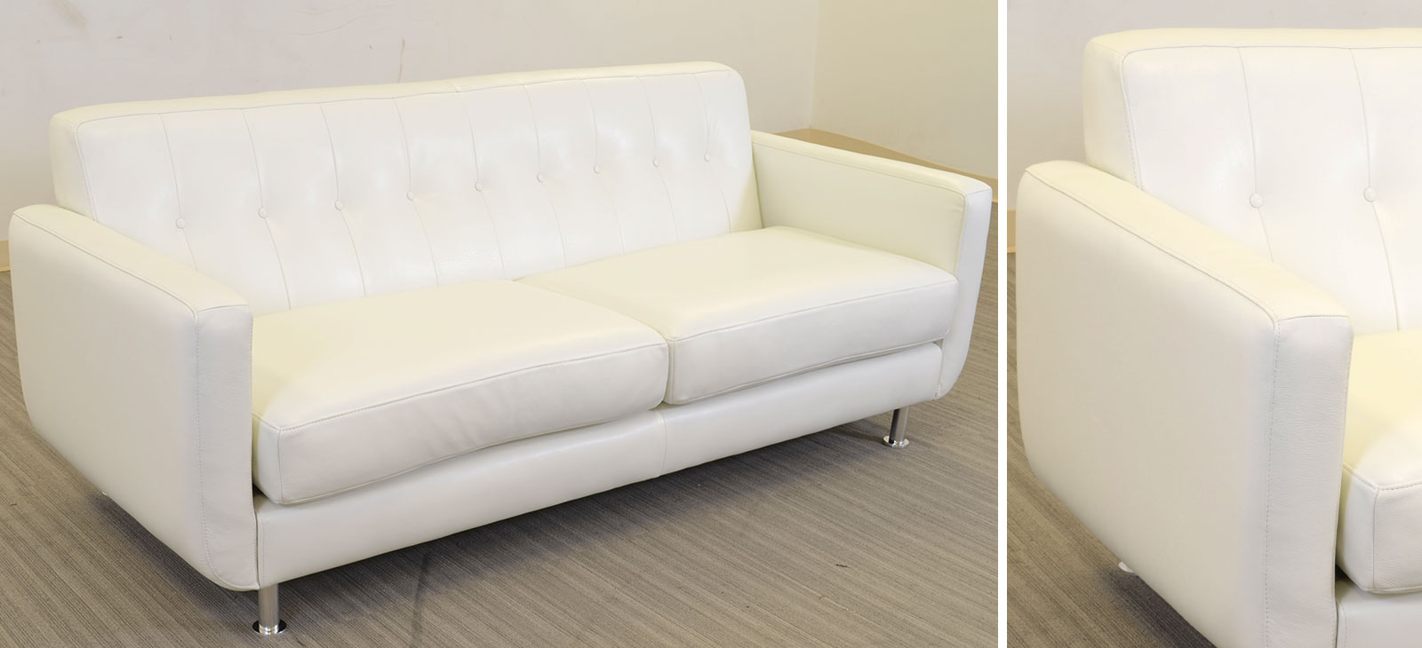 Greta 2 Cushion Sofa Angle