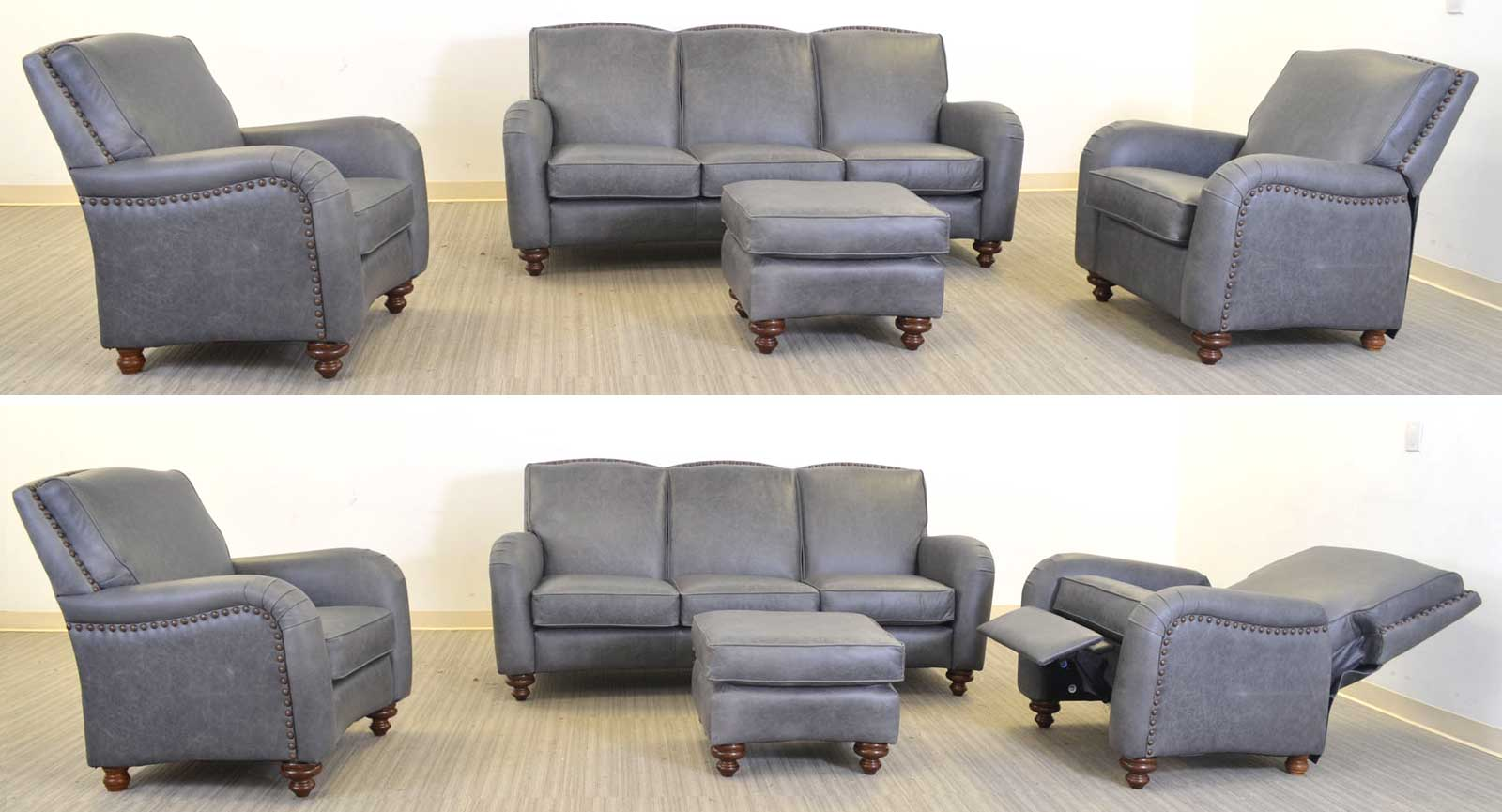 Chair Sofa Ottoman Pushback Incliner