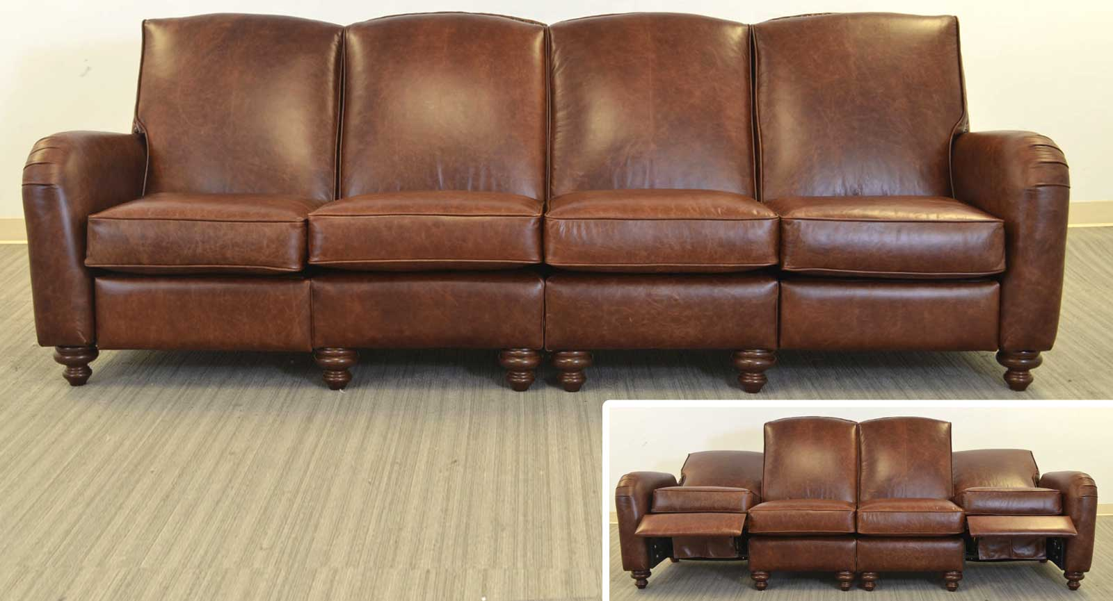 Four Seat Sofa With Incliners