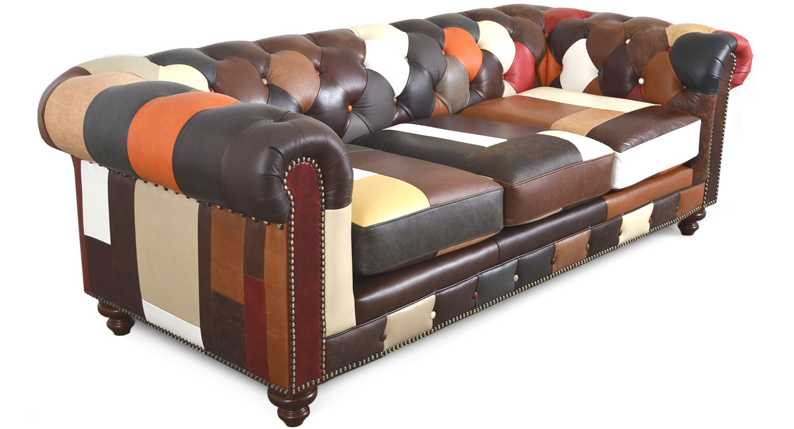 Three Seat Sofa Patchwork