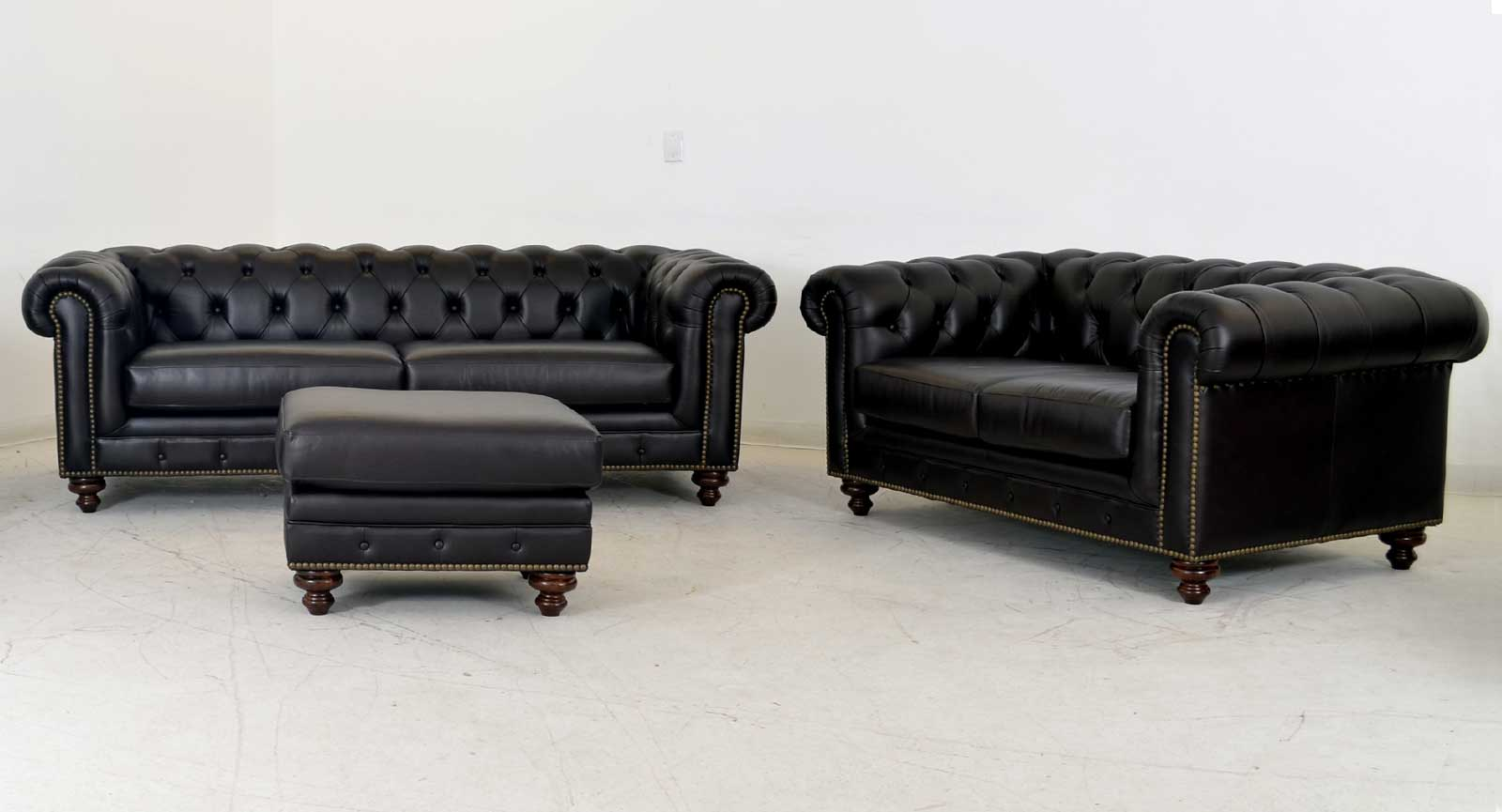 Two Seat Sofa Ottoman Loveseat
