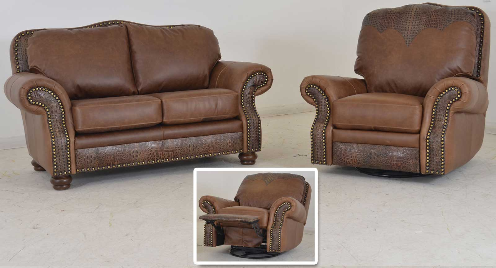 Loveseat Swivel Glider Recliner