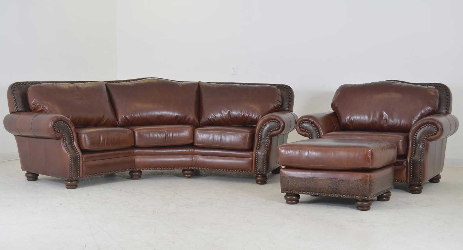 Theater Sofa Chair And Half Ottoman