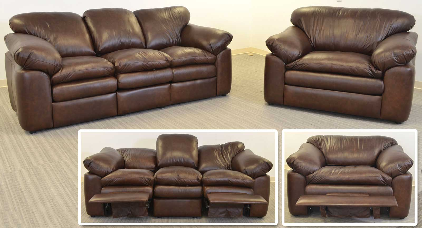 Three Seat Sofa Chair And Half 3 Incliners