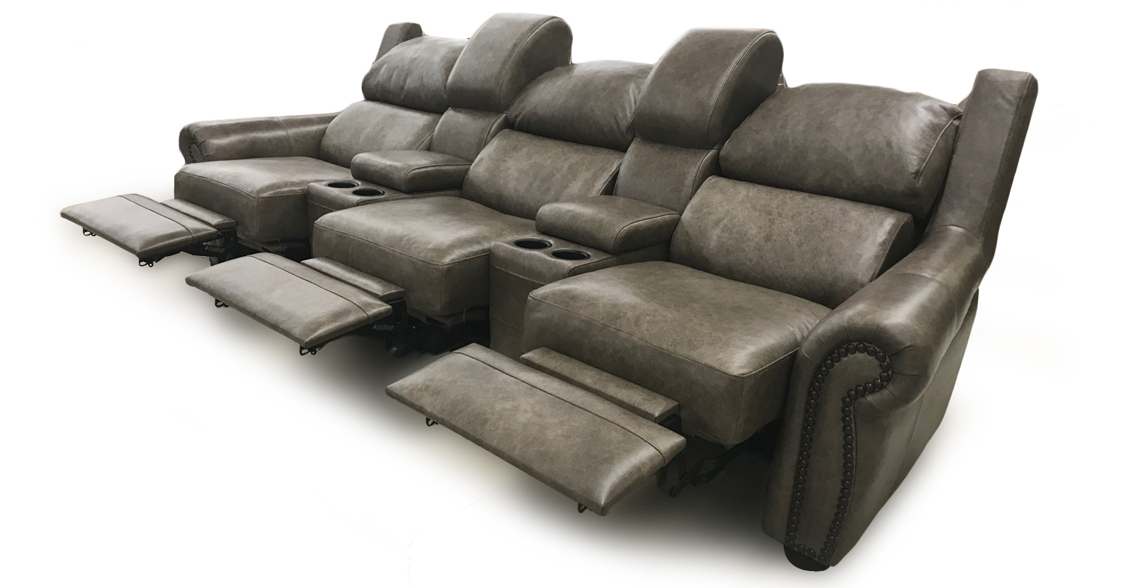 Three Seat With 2 Consoles Reclined